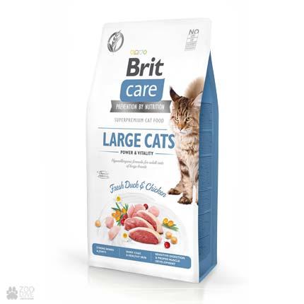 Brit Care Cat Grain Free Large cats Power & Vitality, беззерновой корм для кішок великих порід