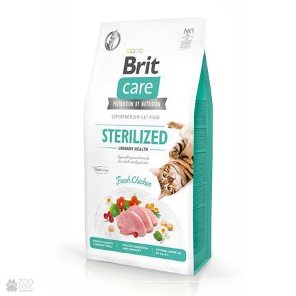Brit Care Cat Grain Free Sterilized Urinary Health, беззерновой корм для стерилизованных котов с чувствительным пищеварением