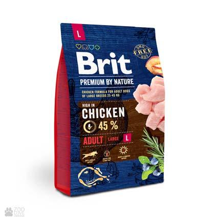 корм для собак крупных пород Brit Premium Adult L