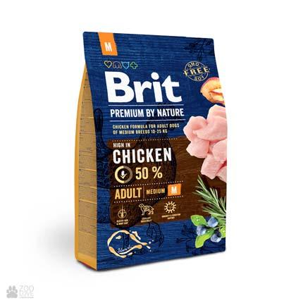 корм для собак средних пород Brit Premium Adult M