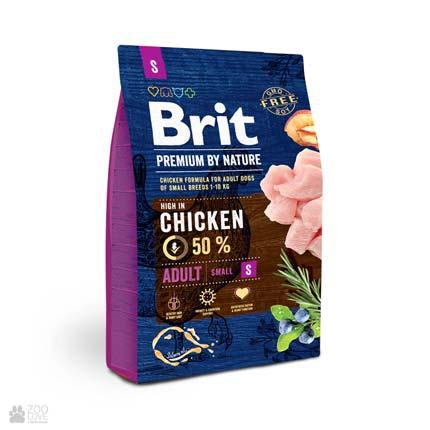 корм для собак малых пород Brit Premium Adult S
