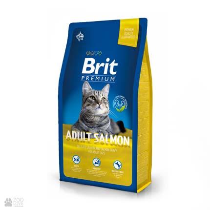 корм Брит Премиум для взрослых кошек с лососем Brit Premium Cat Adult Salmon