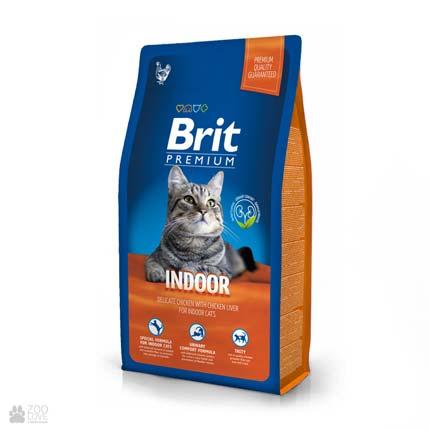 корм Брит Премиум для кошек, живущих в помещении Brit Premium Cat Indoor Chicken