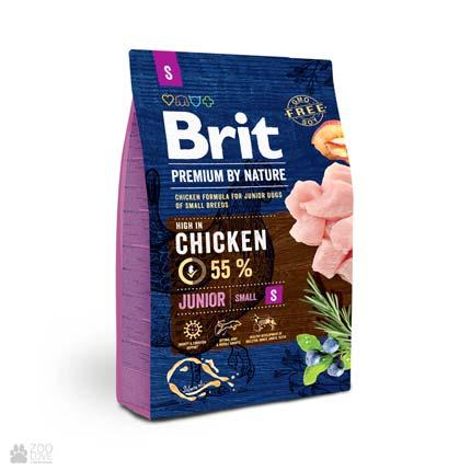 корм Брит Премиум для щенков малых пород Brit Premium Junior S