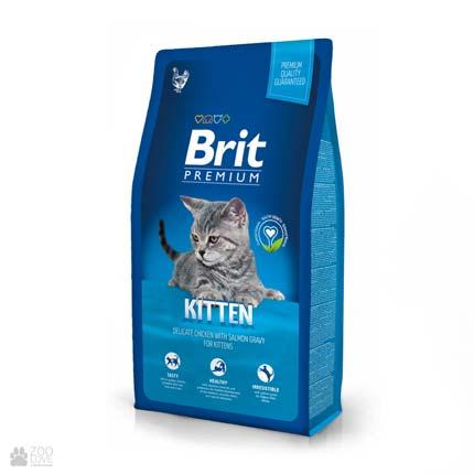 сухой корм Брит Премиум Киттен для котят с курицей Brit Premium Kitten Chicken