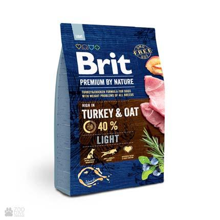 корм Брит Премиум Лайт для собак с избыточным весом Brit Premium Light
