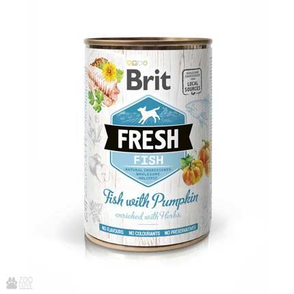 Brit Fresh Fish/Pumpkin, консервы для собак, рыба, тыква