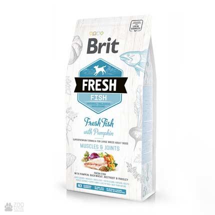 Brit Fresh Fish/Pumpkin Adult Large, для собак крупных пород, рыба, тыква
