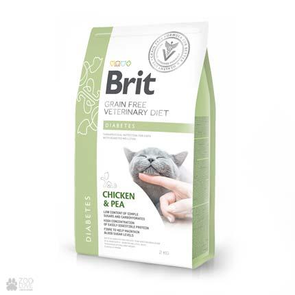 ветеринарная беззерновая диета для кошек с диабетом Brit Veterinary Diet Diabetes Grain Free Cats