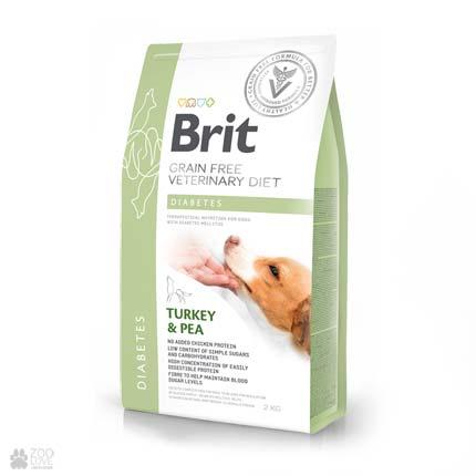 ветеринарная беззерновая диета для собак с диабетом Brit Veterinary Diet Diabetes Grain Free