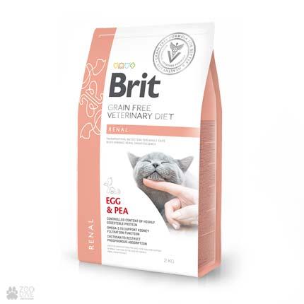 ветеринарная диета для кошек с заболеваниями почек Brit Veterinary Diet Renal Grain Free Cat
