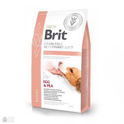 ветеринарная диета для собак с заболеваниями почек Brit Veterinary Diet Renal Grain Free