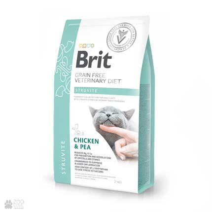 ветеринарная диета для кошек с мочекаменной болезнью Brit Veterinary Diet Struvite Grain Free Cat