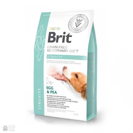 ветеринарная диета для собак с мочекаменной болезнью Brit Veterinary Diet Struvite Grain Free