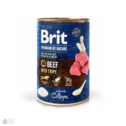 Консервы для собак Brit Premium by Nature Beef with Tripe Pate
