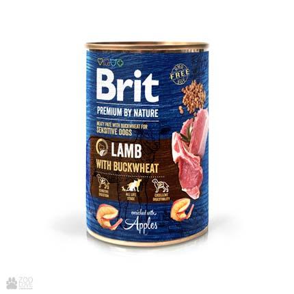 Консервы для собак Brit Premium by Nature Lamb with Buckwheat Pate