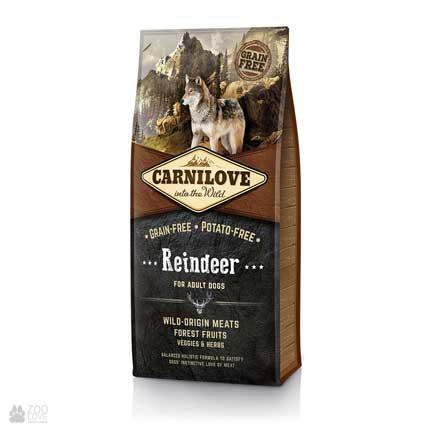 Беззерновой холистический корм для собак, с мясом северного оленя Carnilove Adult Raindeer