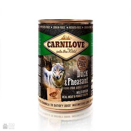беззерновые консервы для собак с уткой и фазаном Carnilove Dog Duck & Pheasant