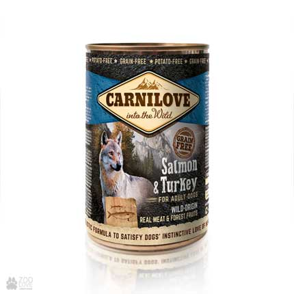 беззерновые консервы для собак с лососем и индейкой Carnilove Dog Salmon & Turkey