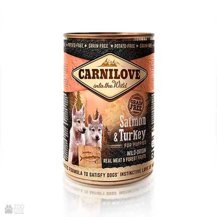 беззерновые консервы для щенков с лососем и индейкой Carnilove Puppy Salmon & Turkey