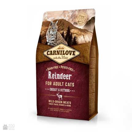корм для кошек с активным образом жизни Carnilove Energy & Outdoor Reindeer