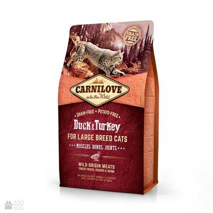 корм для котов крупных пород Carnilove Large Breed Duck & Turkey Grain Free