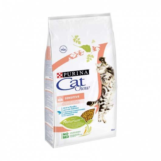 Изображение упаковки корма сухого Cat Chow Sensitive 15 кг