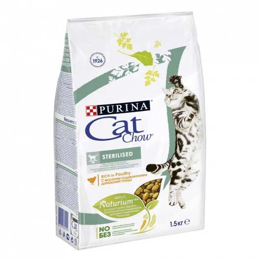 Изображение упаковки сухого корма Cat Chow Sterilized 1,5 кг