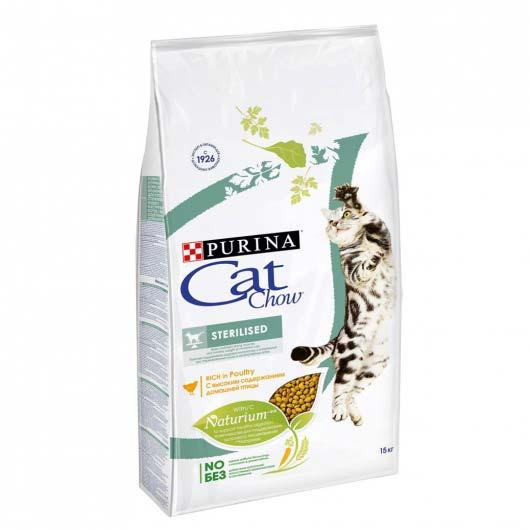 Изображение упаковки сухого корма Cat Chow Sterilized 15 кг