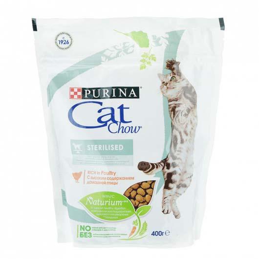 Фото упаковки сухого корма Cat Chow Sterilized 400 гр
