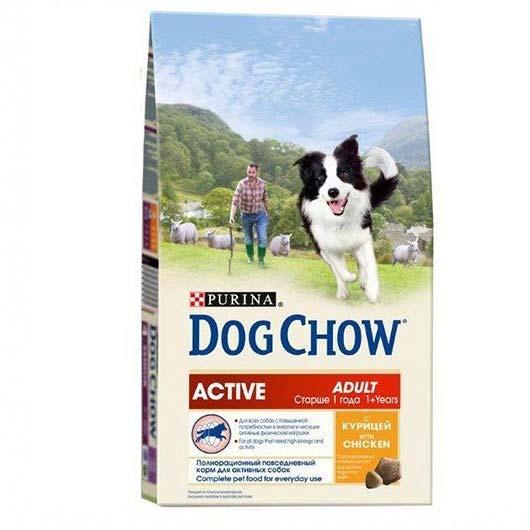 Dog Chow для активных собак с курицей, 2,5