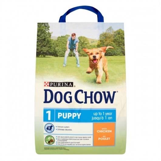 Корм для щенков с мясом курицы Dog Chow Puppy Chicken, 2,5 кг (дизайн до 2018 года)