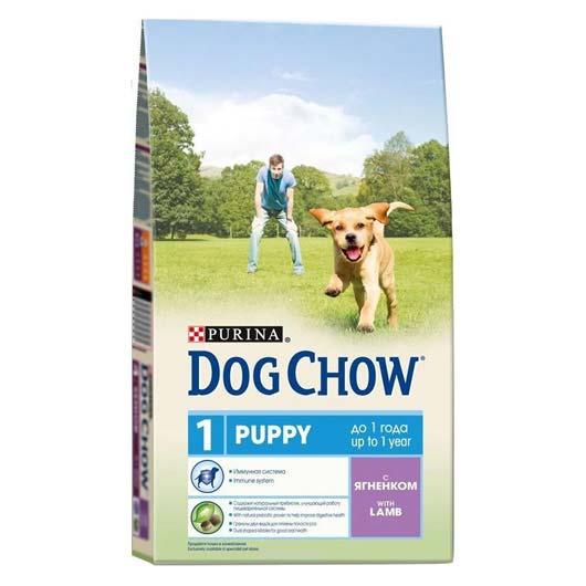Dog Chow для щенков, с ягненком, 2,5