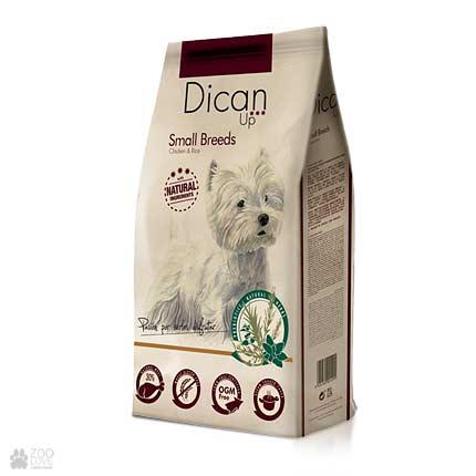 Dican Up Small Breeds, сухой корм для собак малых пород, 3 кг