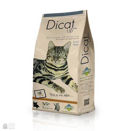 сухой корм с индейкой для кошек Dicat Up Land Taste