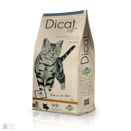 сухой корм с лососем и тунцом для кошек Dicat Up Sea Taste