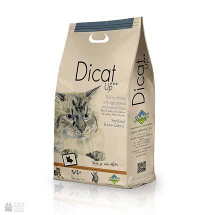 сухой корм для кошек с пониженной калорийностью Dicat Up Sterilized & Low Caloric
