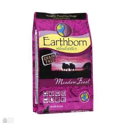 холистик корм для собак с мясом ягненка Earthborn Holistic Meadow Feast with Lamb Meal