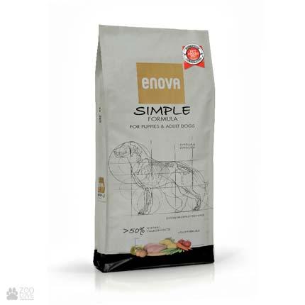 Сухой корм для собак с курицей Enova Simple Formula