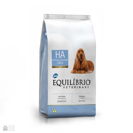 Сухой ветеринарный гипоаллергенный корм для собак Equilibrio Hypoallergeniс HA
