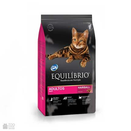 Сухой корм для выведения шерсти у кошек Equilibrio Hairball Cats