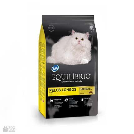 корм для кошек с длинной шерстью Equilibrio Long Hair Cats