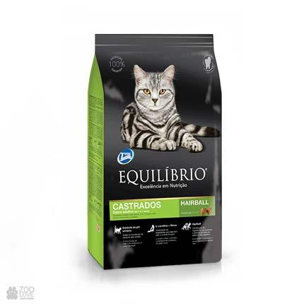 Сухой корм для стерилизованных кошек до 7 лет Equilibrio Sterilised Cats