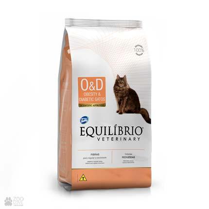 Ветеринарный диетический корм для котов Equilibrio Veterinary Obesity And Diabetic