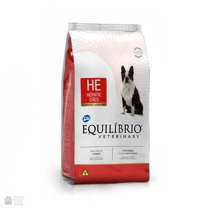 Сухой ветеринарный корм для собак с заболеваниями печени Equilibrio Hepatic HE (новый дизайн)