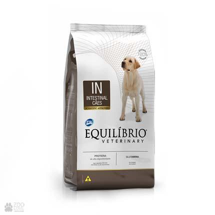 Сухой ветеринарный корм для собак с заболеваниями желудочно-кишечного тракта Equilibrio Veterinary Intestinal IN (новый дизайн)