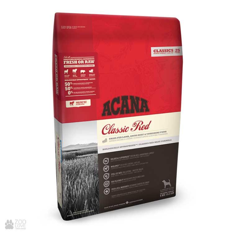 Корм для собак Acana Classic Red 29/17 - Интернет ...