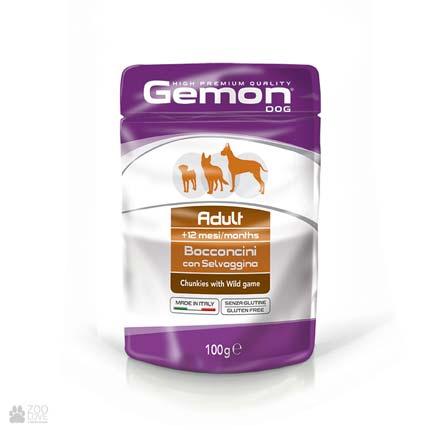 Консервы для собак Gemon Adult, Chunkies with Wild Game