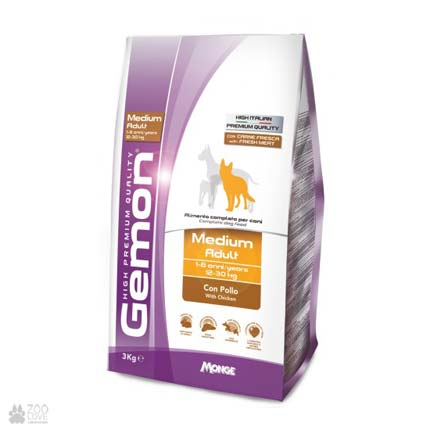 корм для собак средних пород Gemon Dog Medium Adult Chicken Rice