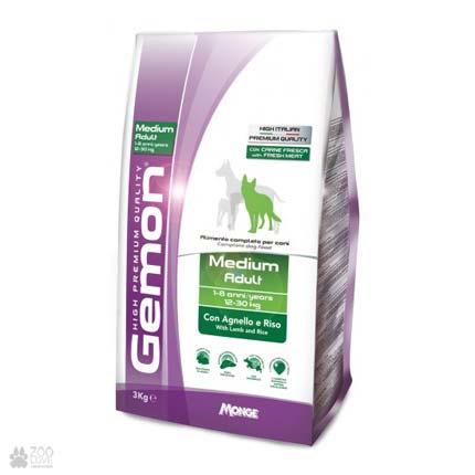 корм для собак средних пород Gemon Dog Medium Adult Lamb Rice